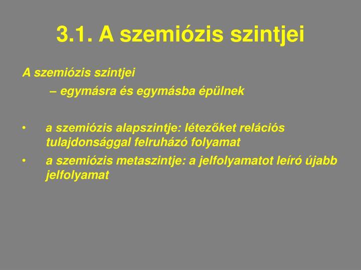 3.1. A szemiózis szintjei