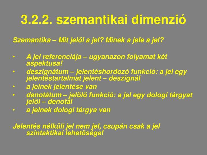 3.2.2. szemantikai dimenzió
