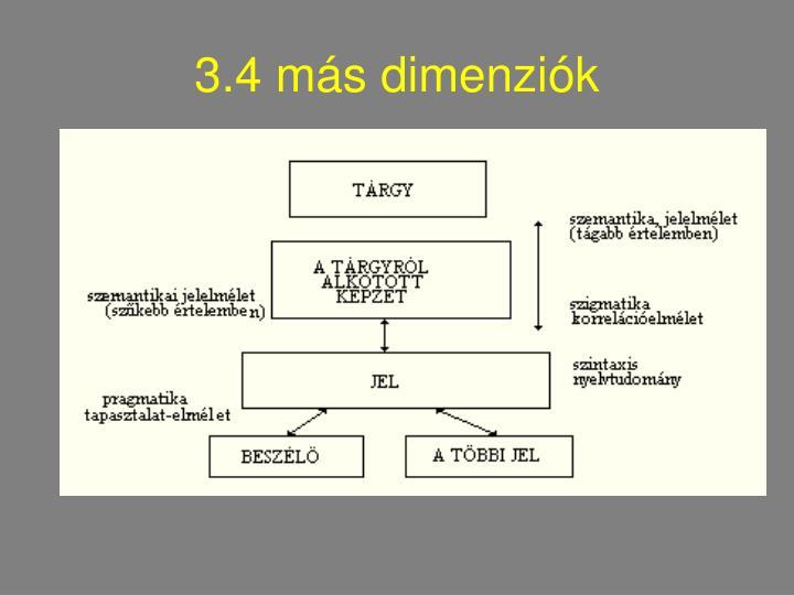 3.4 más dimenziók