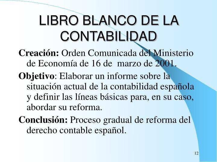 LIBRO BLANCO DE LA CONTABILIDAD
