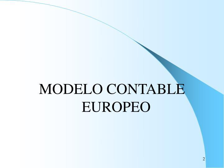 MODELO CONTABLE EUROPEO