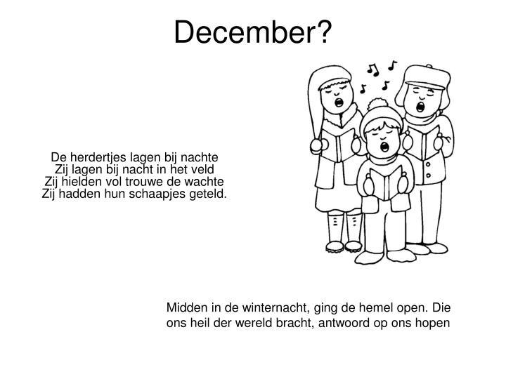 December?