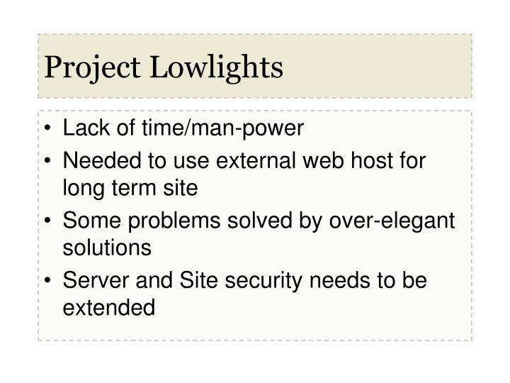 Project Lowlights