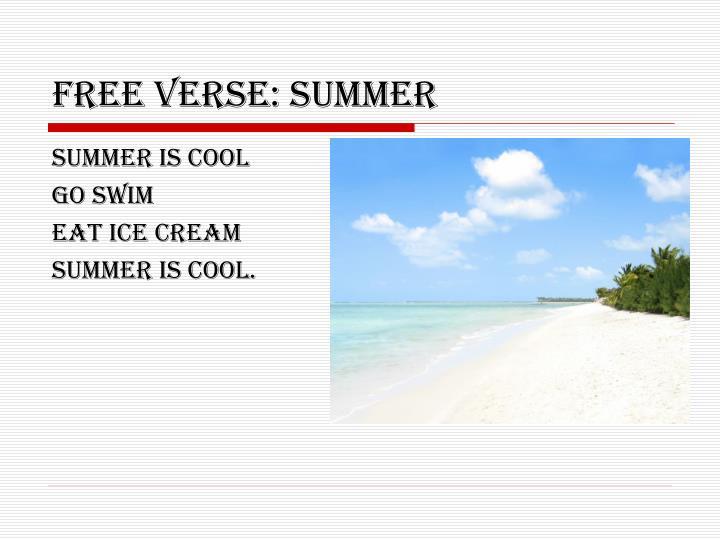 Free verse: SUMMER