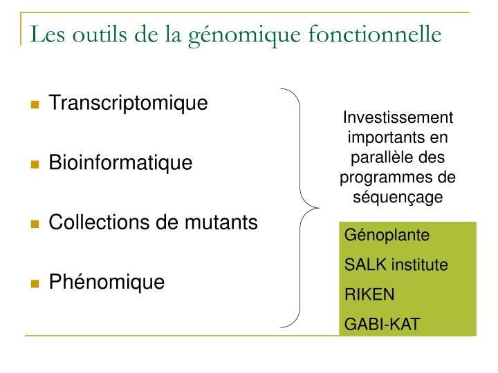 Investissement importants en parallèle des programmes de séquençage