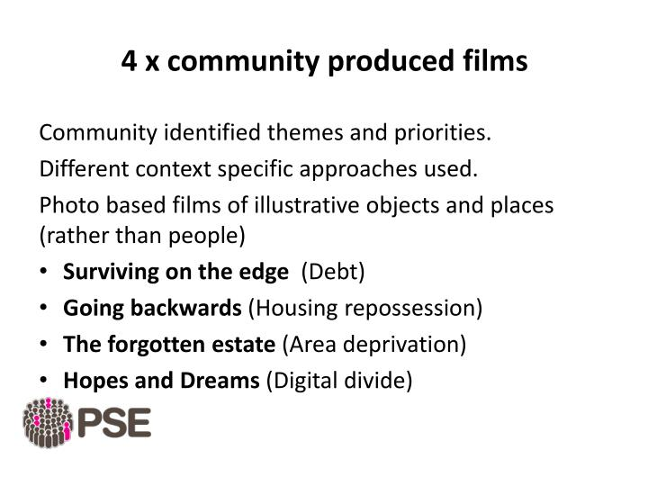 4 x community produced films