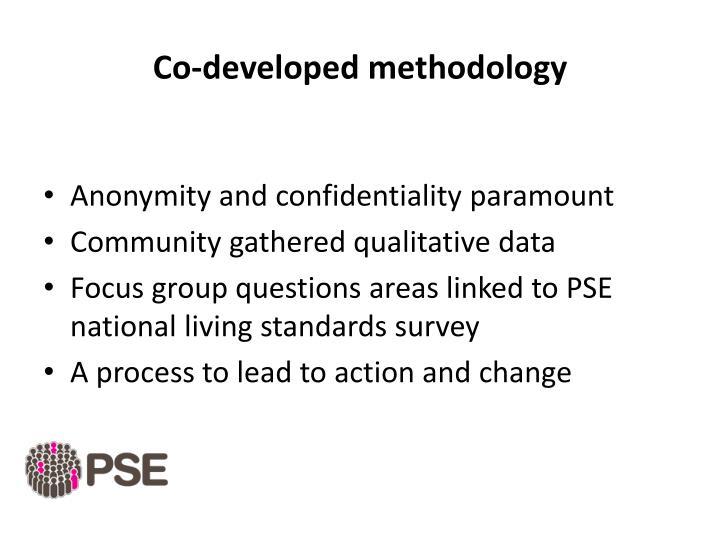 Co-developed methodology
