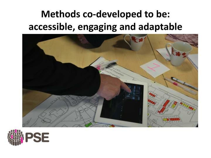Methods co-developed to be:
