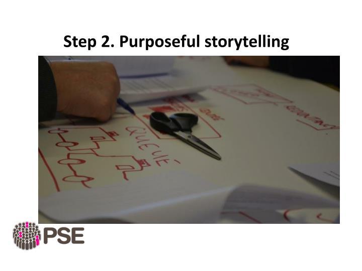 Step 2. Purposeful storytelling
