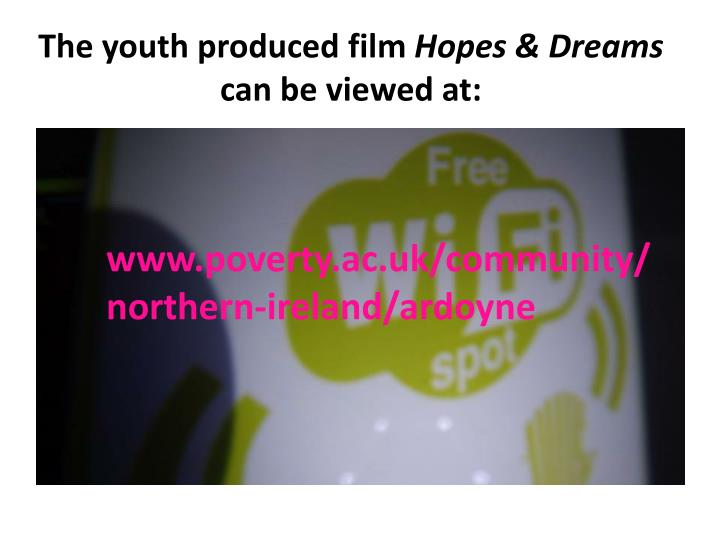 The youth produced film