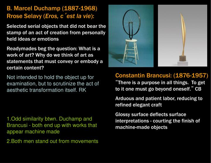 B. Marcel Duchamp (1887-1968) Rrose Selavy (
