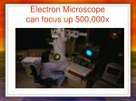 electron microscope can focus up 500 000x