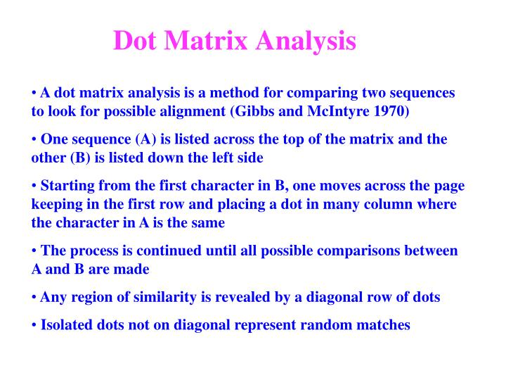 Dot Matrix A