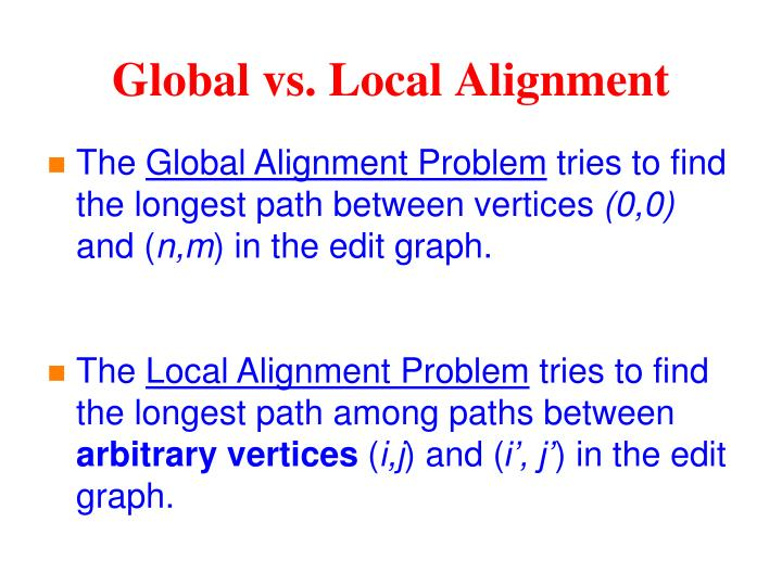 Global vs. Local Alignment