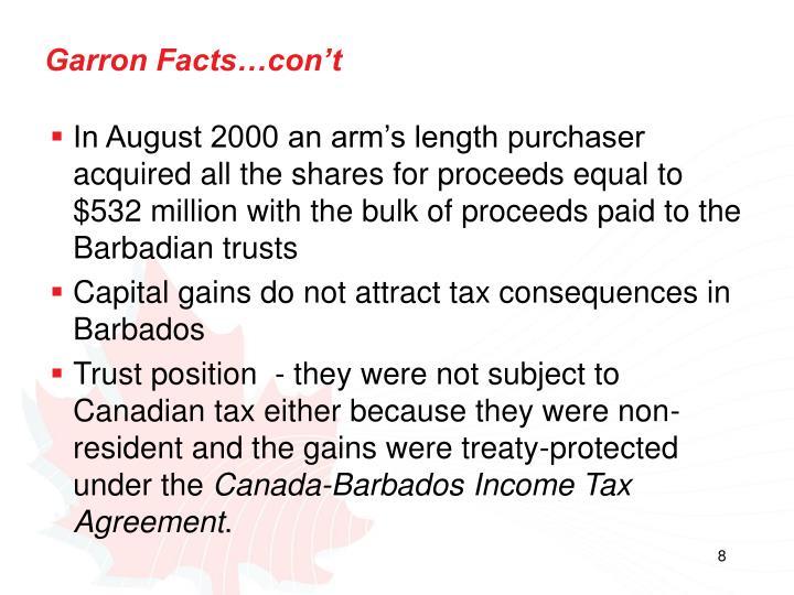 Garron Facts…con't
