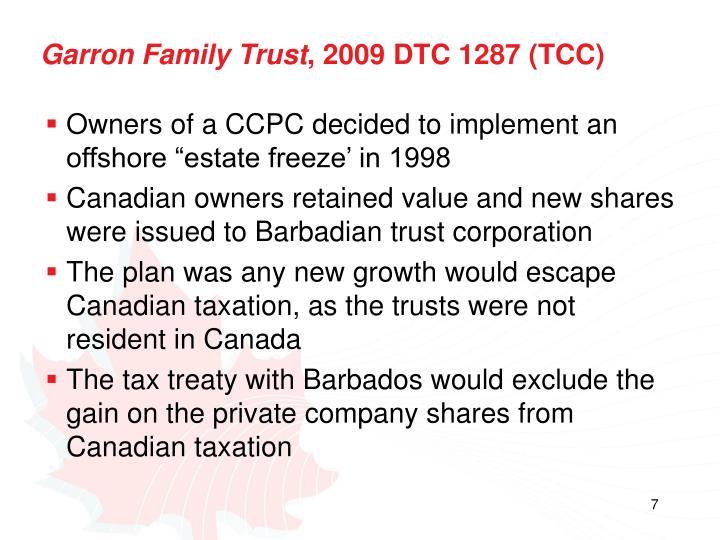 Garron Family Trust