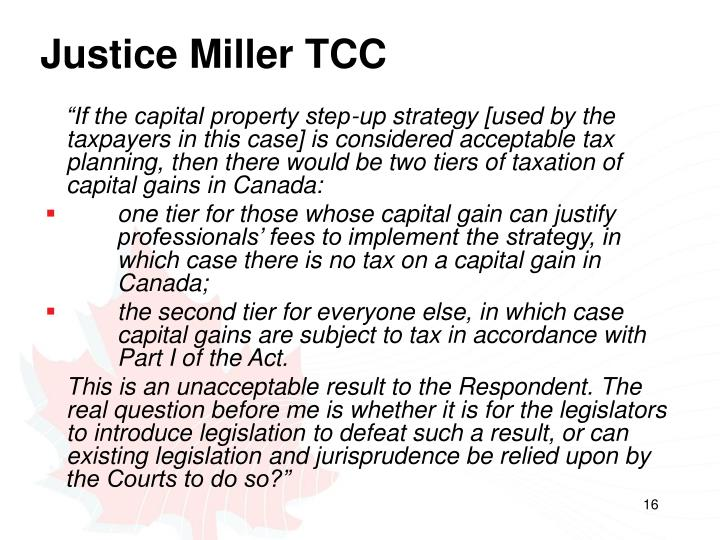 Justice Miller TCC