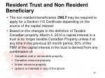 resident trust and non resident beneficiary