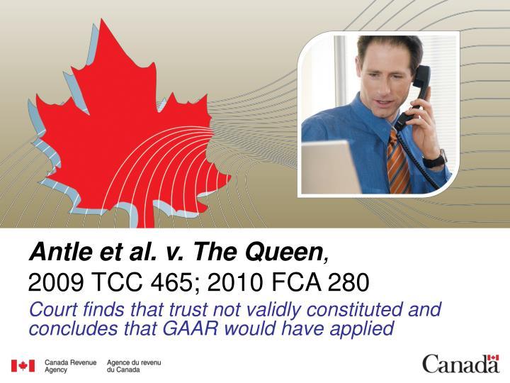 Antle et al. v. The Queen