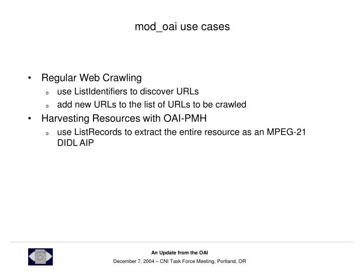mod_oai use cases