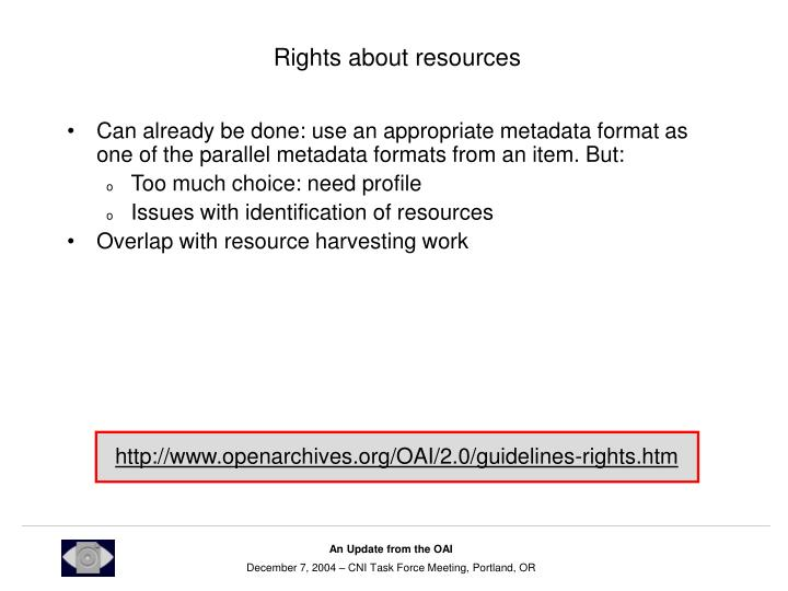 Rights about resources