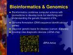 bioinformatics genomics