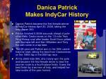 danica patrick makes indycar history