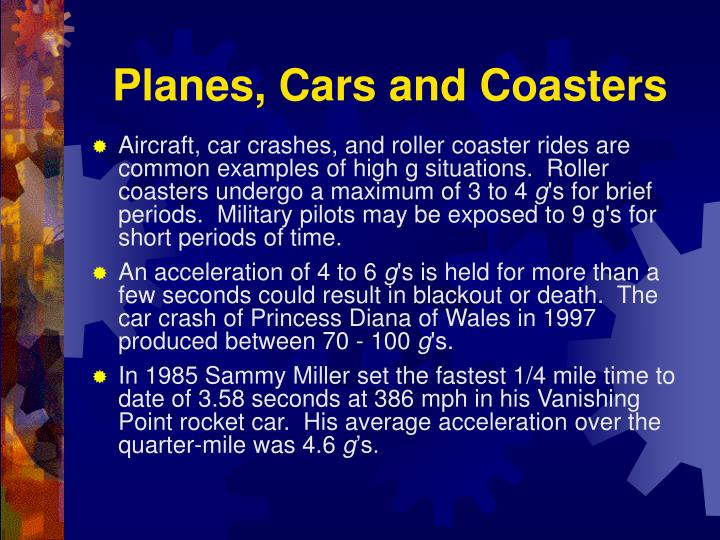Planes, Cars and Coasters