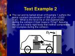text example 2