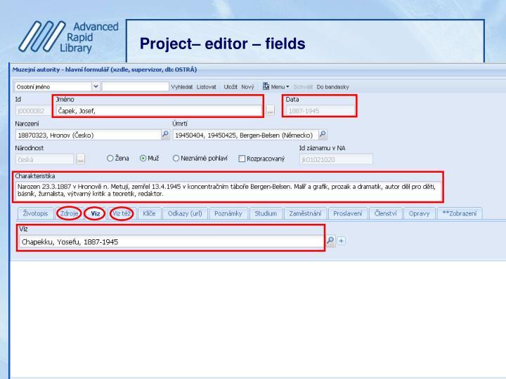 Project– editor –
