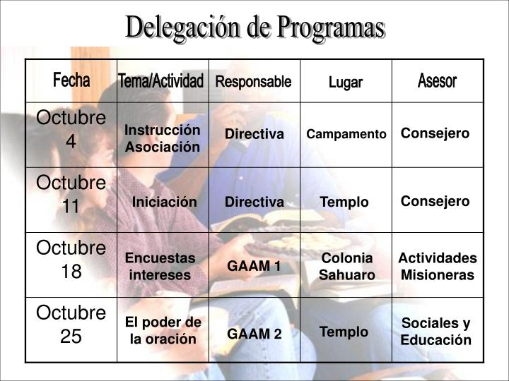 Delegación de Programas