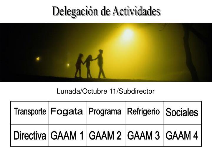 Delegación de Actividades