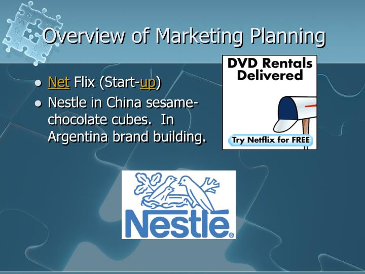 Overview of Marketing Planning