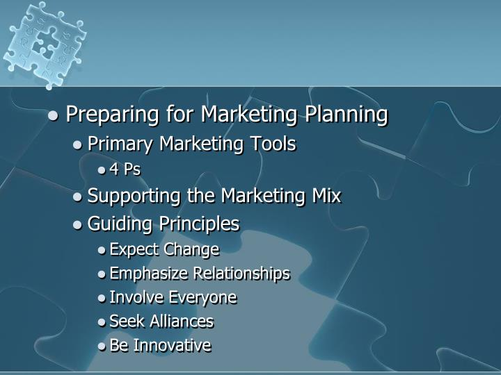 Preparing for Marketing Planning
