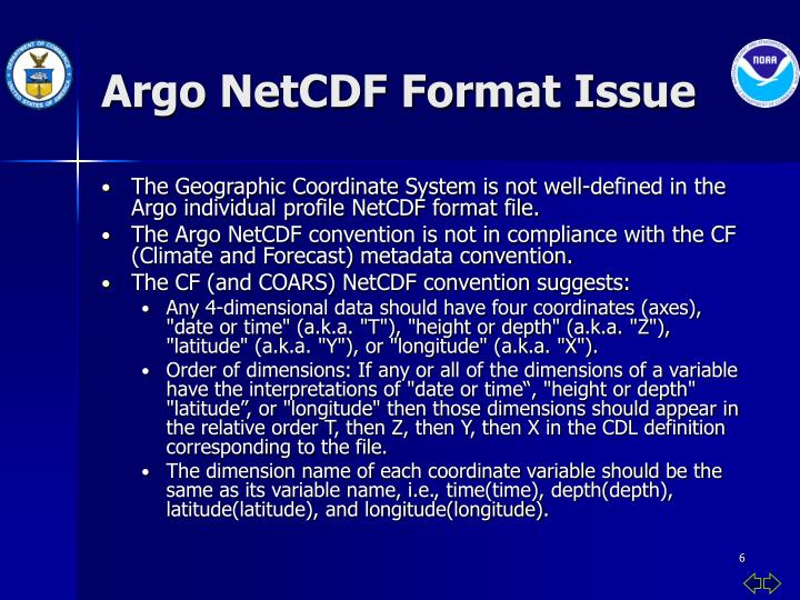 Argo NetCDF Format Issue