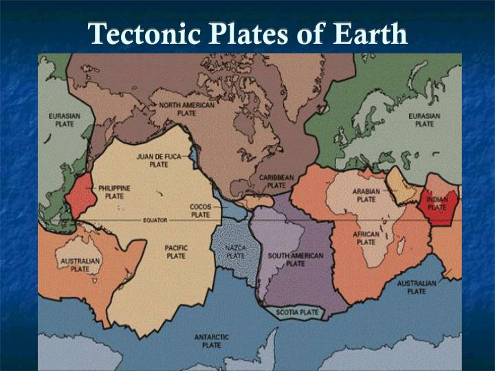 Tectonic plates of earth