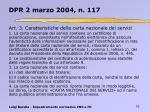dpr 2 marzo 2004 n 1174