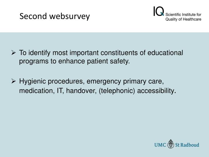 Second websurvey