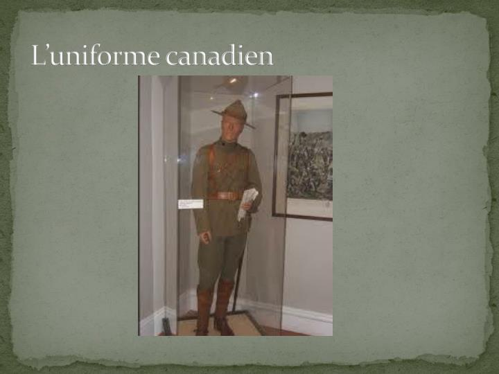 L'uniforme canadien