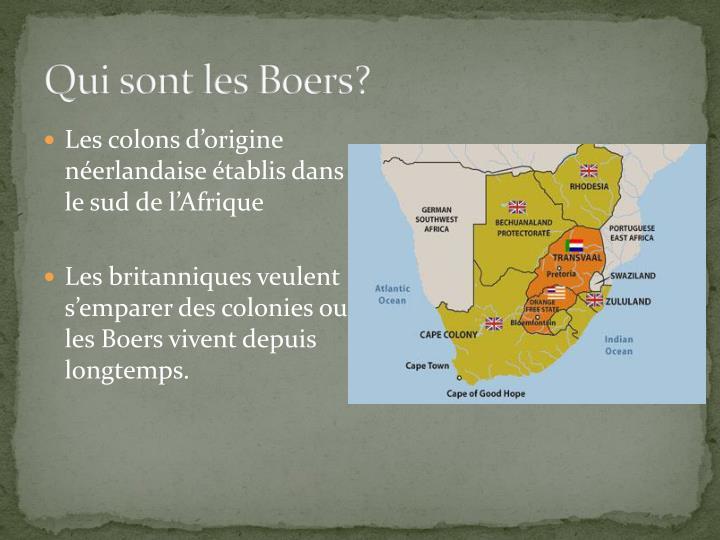 Qui sont les Boers?
