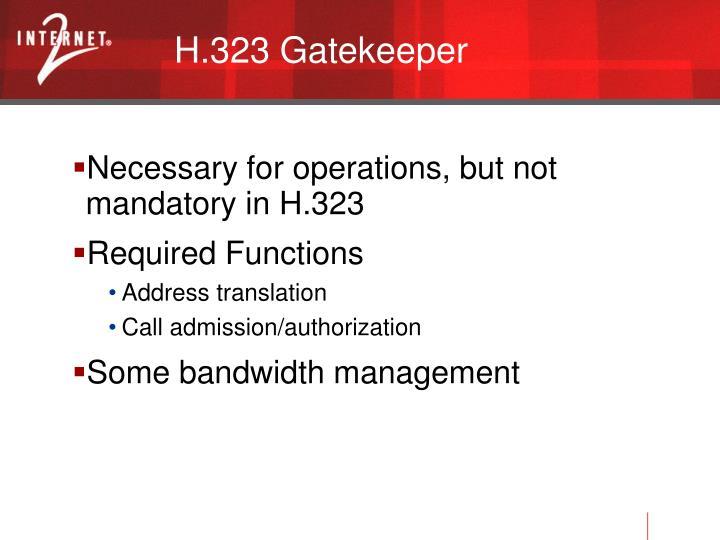 H.323 Gatekeeper