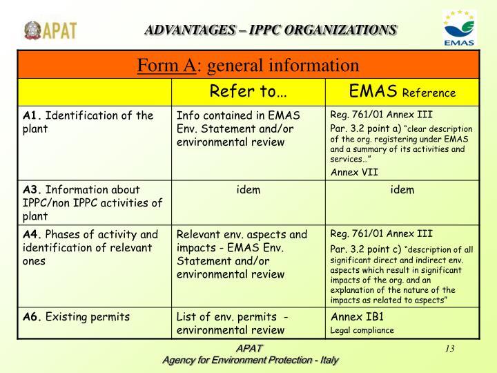 ADVANTAGES – IPPC ORGANIZATIONS
