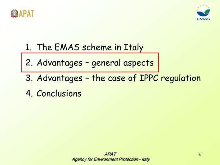 The EMAS scheme in Italy