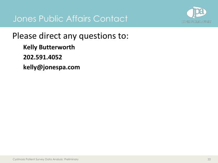 Jones Public Affairs Contact