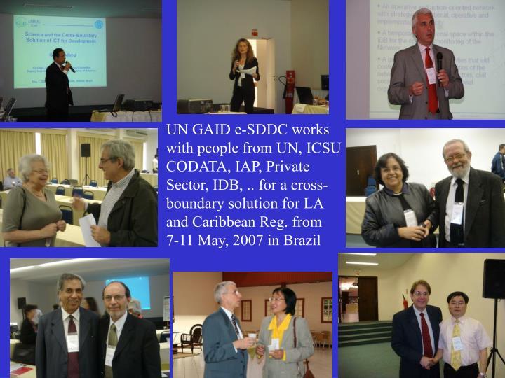 UN GAID e-SDDC works