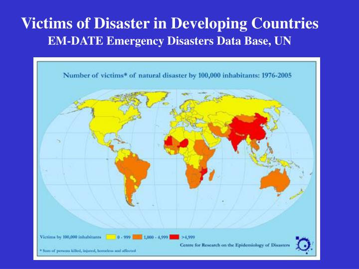 Victims of Disaster in Developing Countries