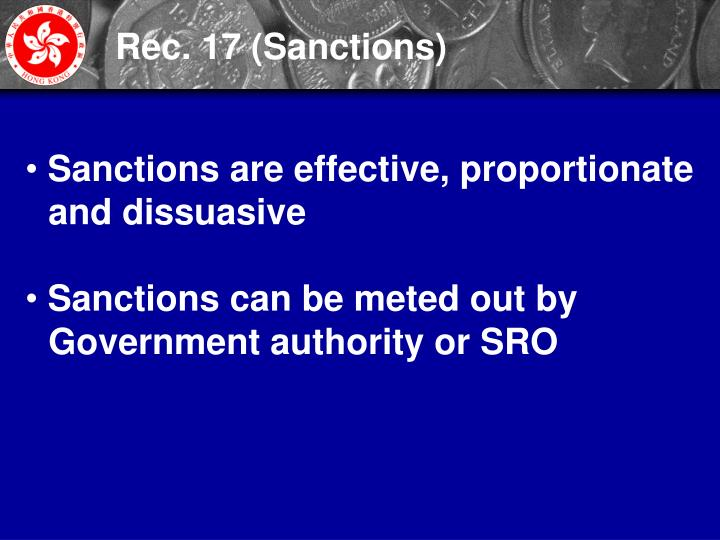 Rec. 17 (Sanctions)