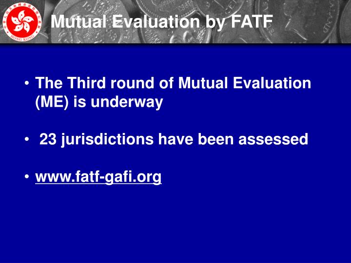 Mutual Evaluation by FATF