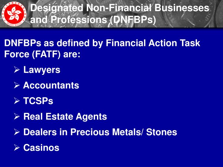 Designated Non-Financial Businesses