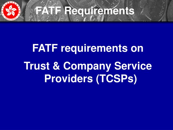 FATF Requirements